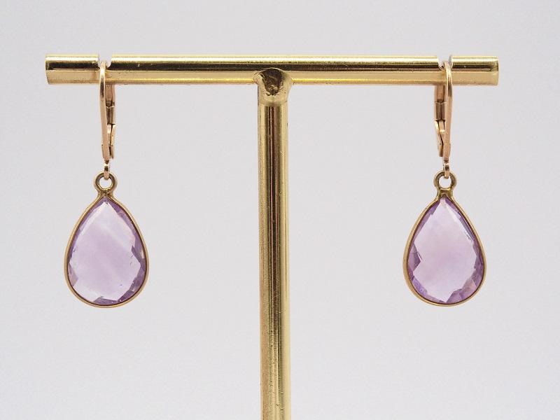 boucles-oreilles Yael violet